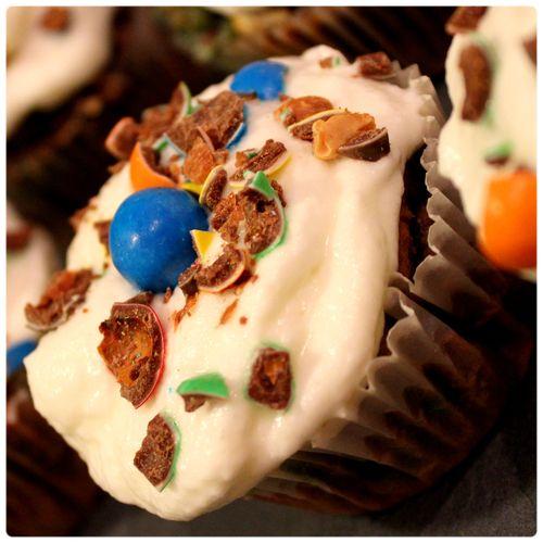 Cupcake m&ms bleu