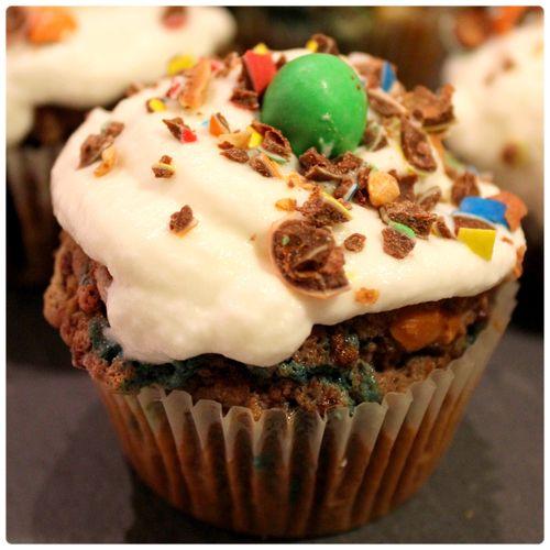 Cupcake m&ms vert